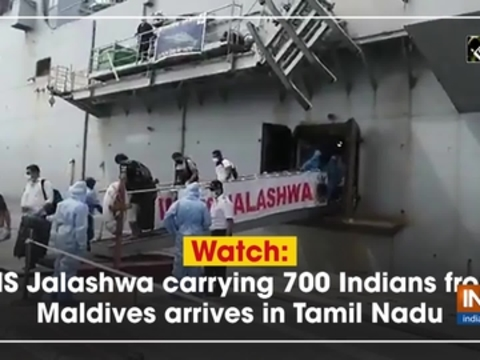 Watch: INS Jalashwa carrying 700 Indians from Maldives arrives in Tamil Nadu