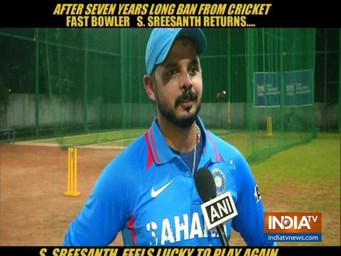 S Sreesanth set to return to action after seven years