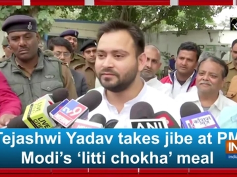 Tejashwi Yadav takes jibe at PM Modi's 'litti chokha' meal