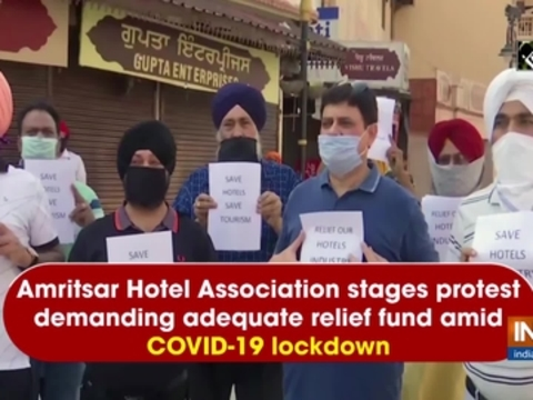 Amritsar Hotel Association stages protest demanding adequate relief fund amid COVID-19 lockdown