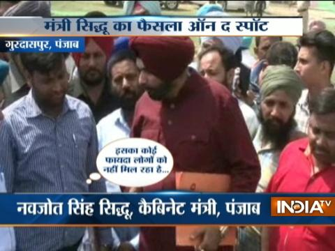 Navjot Singh Sidhu suspends SDO Sewerage Board in Punjab for dereliction of duty