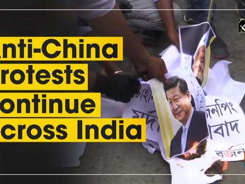 Anti-China protests continue across India
