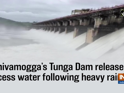 Shivamogga's Tunga Dam releases excess water following heavy rainfall