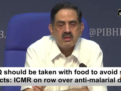 HCQ should be taken with food to avoid side effects: ICMR on row over anti-malarial drug