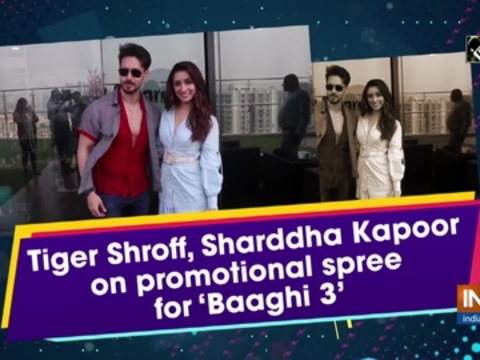 Tiger Shroff, Sharddha Kapoor on promotional spree for 'Baaghi 3'