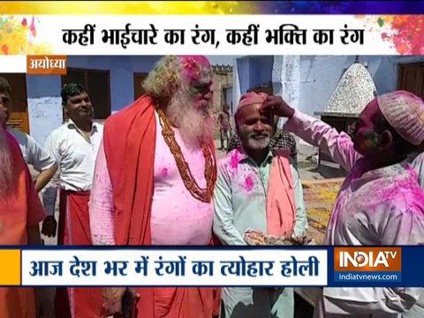 Holi: Babri Masjid, Ram Mandir litigants celebrate 'festival of colours' together in Ayodhya