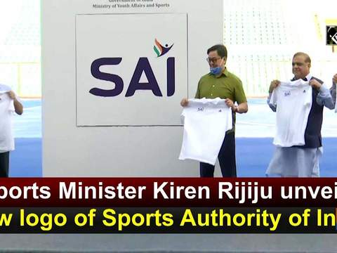 Sports Minister Kiren Rijiju unveils new logo of Sports Authority of India