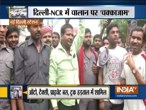 दिल्ली-एनसीआर में ट्रांसपोर्ट हड़ताल, बस और कैब सेवाएं प्रभावित