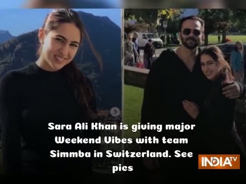 Sara Ali Khan is giving major Weekend Vibes with team Simmba in Switzerland