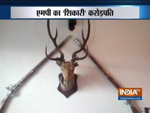 Endangered animal skin and buck heads found at Ashwin sharma's residence