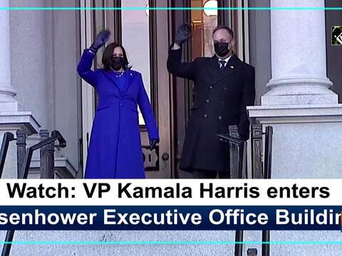 Watch: VP Kamala Harris enters Eisenhower Executive Office Building