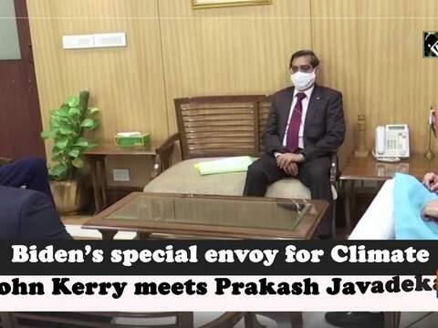 Biden's special envoy for Climate John Kerry meets Prakash Javadekar