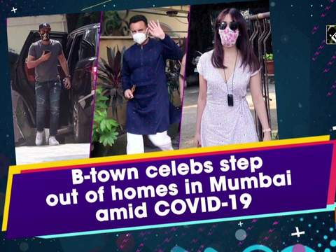 B-town celebs step out of homes in Mumbai amid COVID-19
