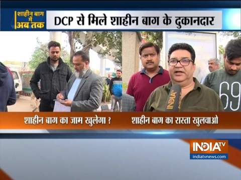 Shopkeepers of Shaheen Bagh meets North-east DCP