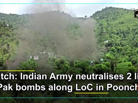 Watch: Indian Army neutralises 2 live Pak bombs along LoC in Poonch