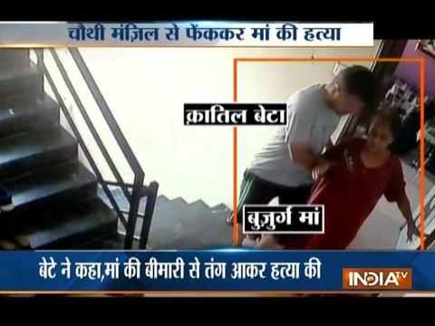 Gujarat: Video shows professor throwing mother off terrace