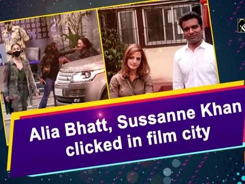 Alia Bhatt, Sussanne Khan clicked in film city