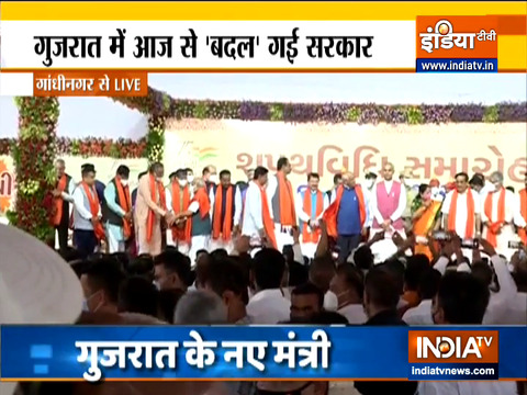 CM भूपेंद्र पटेल के नए कैबिनेट के मंत्रियों ने ली शपथ, देखें वीडियो