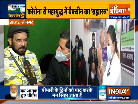 श्रीनगर के शेर-ए-कश्मीर इंस्टीट्यूट ऑफ मेडिकल साइंसेज में वैक्सीनेशन हुआ शुरू