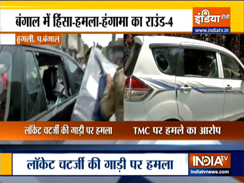 West Bengal Elections 2021: BJP MP Locket Chatterjee's car attacked in Hooghly