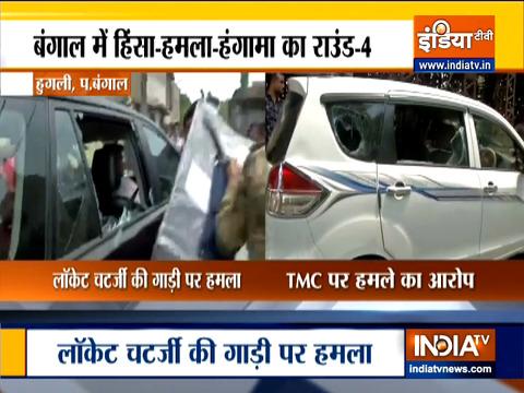 Bengal polls 2021: हुगली में BJP कैंडिडेट लॉकेट चटर्जी की कार पर हमला
