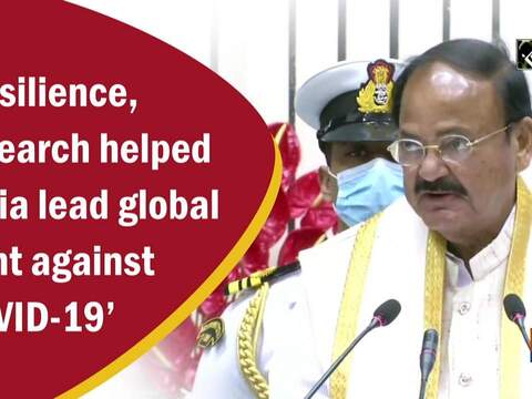 Resilience, research helped India lead global fight against COVID-19: Venkaiah Naidu