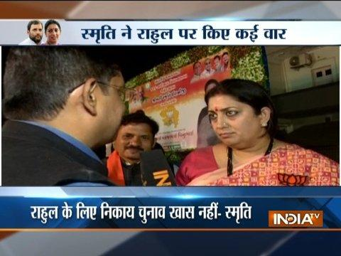 BJP leader Smriti Irani takes a dig at Rahul Gandhi