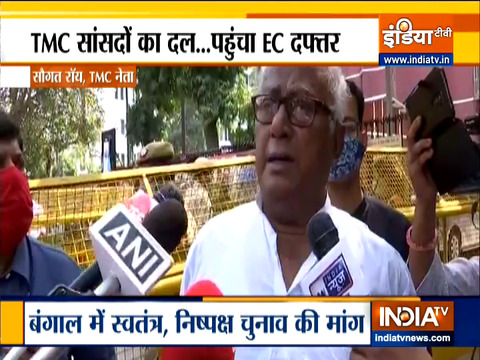 Bengal Polls 2021: Delegation of TMC MPs met the Election Commission
