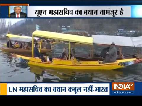 भारत संयुक्त राष्ट्र महासचिव द्वारा कश्मीर पर मध्यस्थता की पेशकश को अस्वीकार किया