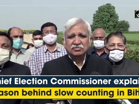 Chief Election Commissioner explains reason behind slow counting in Bihar
