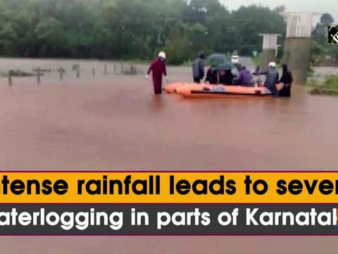 Intense rainfall leads to severe waterlogging in parts of Karnataka