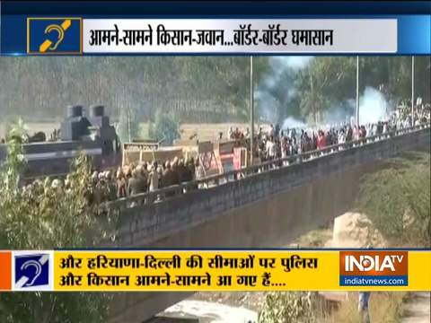 Special News | Water cannon and tear gas shells used to disperse protesting farmers at Shambu border
