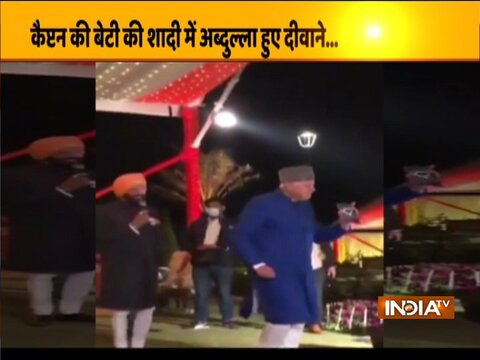 Farooq Abdullah dances to Bollywood song at Amarinder Singh's granddaughter's wedding | Watch Video