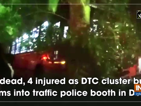 1 dead, 4 injured as DTC cluster bus rams into traffic police booth in Delhi