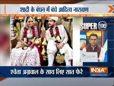 Super 100 | Aditya Narayan ties the knot with Shweta Agarwal