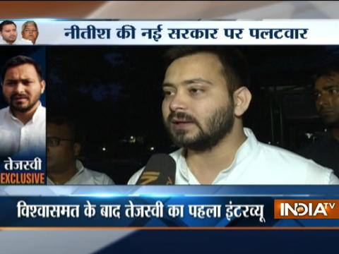 I would have resigned to save Bihar Alliance if asked by Nitish, Tejaswi Yadav tells India TV