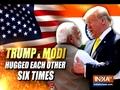 PM Modi welcomes Donald Trump with six warm hugs
