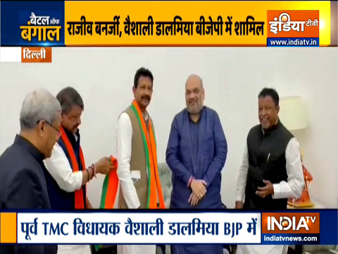 Rajib Banerjee, Other Disgruntled TMC Leaders Join BJP In Delhi