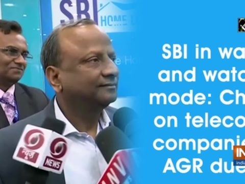 SBI in wait and watch mode: Chief on telecom companies' AGR dues