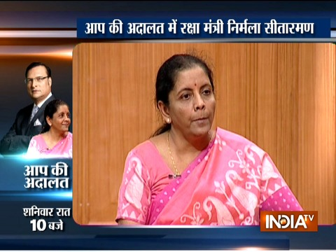 Watch Promo lll: Defence Minister Nirmala Sitharaman in Aap Ki Adalat at 10 PM on Saturday