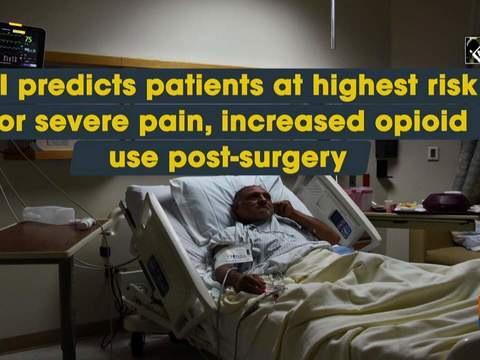 AI predicts patients at highest risk for severe pain, increased opioid use post-surgery