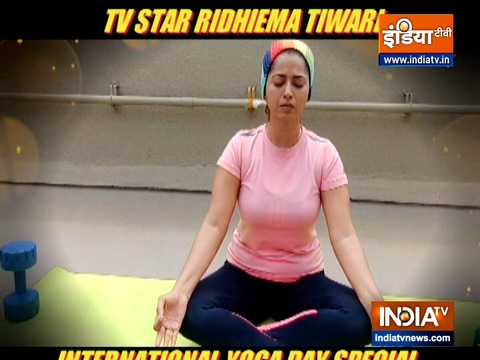 TV actress Ridhiema Tiwari shares benefits of yoga