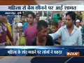 Mob brutally thrash thief trying to snatch woman's purse in Saharanpur