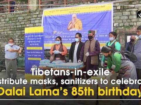Tibetans-in-exile distribute masks, sanitizers to celebrate Dalai Lama's 85th birthday