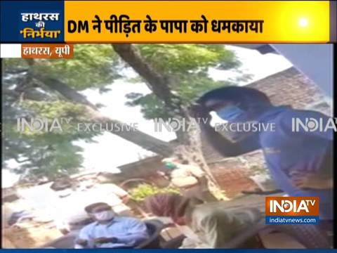 Hatras Case: DM threatens victim's family on camera, pressurize them to change their statement