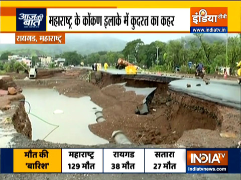 Visuals of  devastation in Konkan, Maharashtra due to flood, landslide, rains