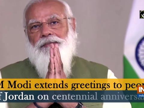 PM Modi extends greetings to people of Jordan on centennial anniversary