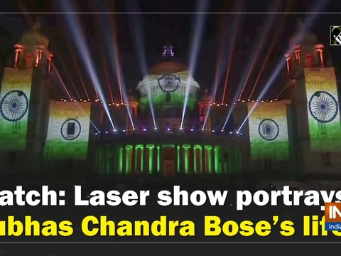 Watch: Laser show portrays Subhas Chandra Bose's life