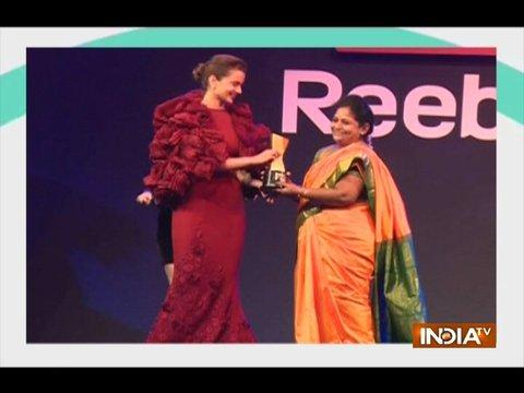 Kangana Ranaut, Shahid Kapoor attend Reebok's Fit to Fight Awards