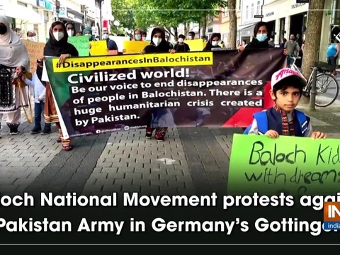 Baloch National Movement protests against Pakistan Army in Germany's Gottingen